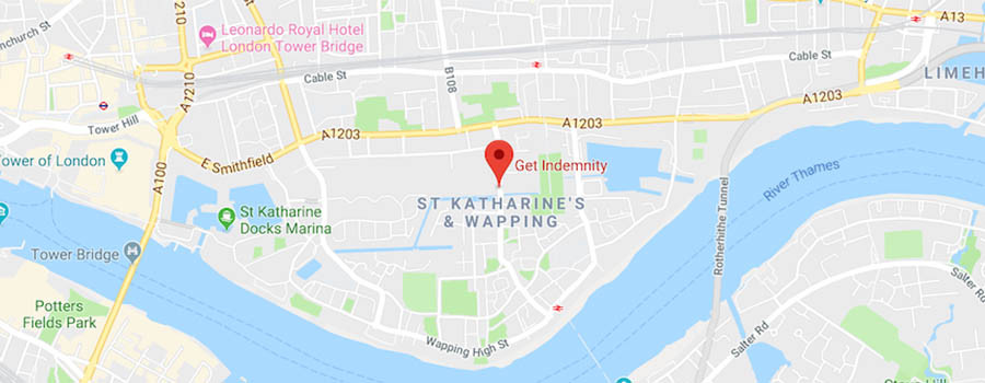 Map of Insurance Brokers London Address in Wapping